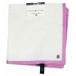 Tommy Hilfiger Pink Logo Pocket Square